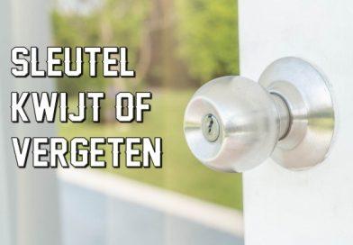 sleutel binnen vergeten buitengesloten